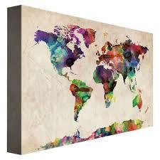target map wall art