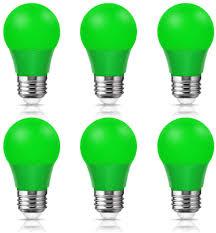 Where Can I Buy Coloured Light Bulbs 6x 4w A15 Green Light Bulbs Techgomade E26 Color Light