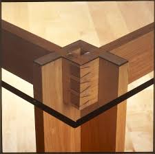 dining table woodworkers: beautiful joinery cherry dining room table with glass top http www woodworking