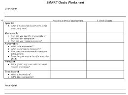 Career Goal Setting Template Bootimar Co