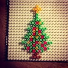 Amazoncom Perler Beads Fused Bead Kit  Snowman Arts Crafts Perler Beads Christmas Tree