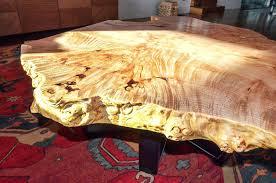 custom wood coffee table custom furniture custom one of a kind burl wood coffee table with
