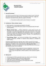 example short form short form business plan example template executive summary free