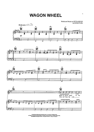 wagon wheel sheet music wagon wheel sheet music music for piano and more sheetmusicnow com