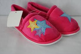 House Shoe Size Chart New Girls Slippers Size Medium 13 1 Pink Stars Soft House