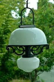vintage milk glass chandelier early american style black and white lighting