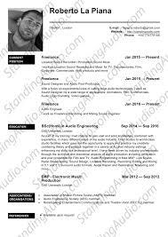 Cv London Standingaudio Roberto La Piana Curriculum Vitae