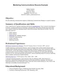 resume examples strong communication skills cover with 17 excellent sample  summary of qualifications on - Strong
