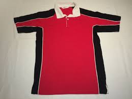 new mens gamegear k613 continental rugby shirt red black m k21