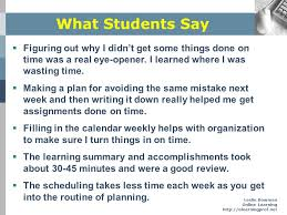 preparing students for online learning ppt  what students say figuring out why i didn t get some things done on time
