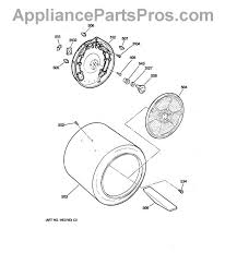 ge we25m40 rear drum bearing kit appliancepartspros com part diagram
