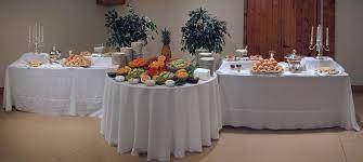 wedding reception food tables