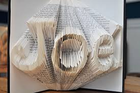close up of book folding