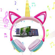 Unicorn Light Up Headphones Kids Unicorn Light Up Headphones