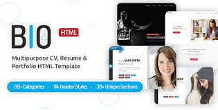 Bio Cv Resume Html Template In Bootstrap 4 Bootstrap4