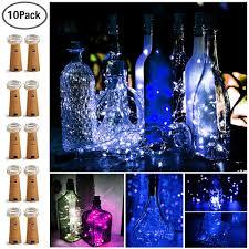 Decorative Bottle Lights Yoozoe Wine Bottle Lights 10pack Cork Bottle Lights Silver Copper Wire Fairy Lights Battery Powered Decorative Bottle Jar Mood Light For Bedroom Diy