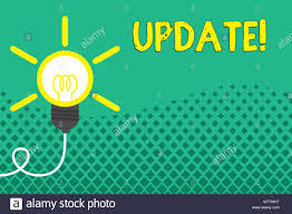 Light Bulb Symbol Meaning Conceptual Hand Writing Showing Update Concept Meaning Make