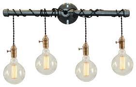 industrial bathroom lighting. Fancy Industrial Bathroom Lighting Binger 4 Light Vanity Fixture N