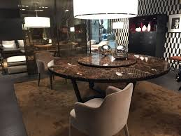 luxury dining table with a round shape from marble