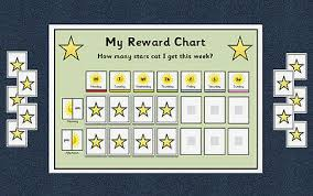 Behaviour Reward Chart Weekly Autism Aspergers Special Needs Adhd Ebay