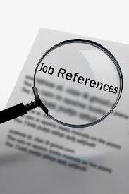 will employers check your references magnifying glass on paper