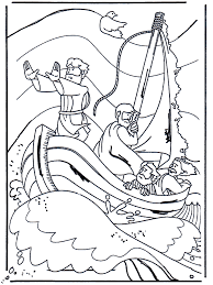Kleurplaat Jezus Kalmeert De Storm Storm Op Het Meer Jesus