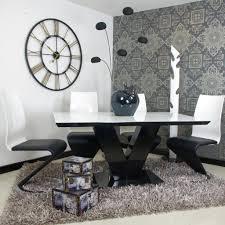 White High Gloss Living Room Furniture Uk Glass High Gloss Metal Dining Table Sets Basic Elegance