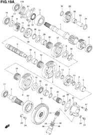 suzuki quadmaster lt af oem parts babbitts suzuki transmission 2 model k1