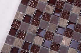 france style colour mixture rustic stone glass mosaic floor tile