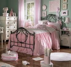 interior design ideas bedroom vintage. Bedroom: Preety Pink Color Accent In Vintage Bedroom Decor With Big Bed Inside Long Window Interior Design Ideas