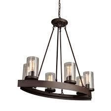 artcraft ac10005 menlo park 6 light ac10005 oil rubbed bronze chandelier