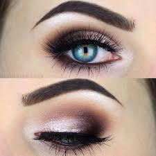 description the ideal makeup for blue eyes