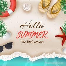 Hello summer best season vector design free download