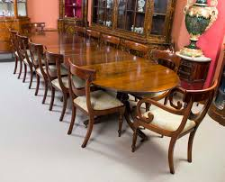 Antique Regency Mahogany Dining Table c1920 & 12 Chairs