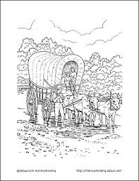 pioneer people coloring pages. pioneer life coloring page - covered wagon people pages