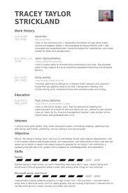 Assembly Resume Samples VisualCV Resume Samples Database Delectable Assembler Resume
