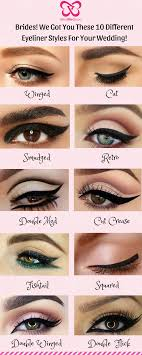 be it a winged or a cat eyeliner we got you these 10 diffe eyeliner styles for your wedding