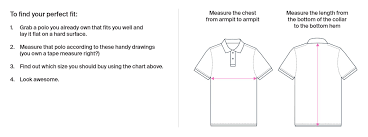 Regular Fit T Shirt Size Chart Mens Shirt Size Chart Polos Pants More Psycho Bunny
