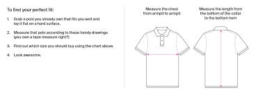 Men S Xs T Shirt Size Chart Mens Shirt Size Chart Polos Pants More Psycho Bunny