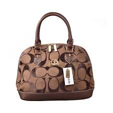 Coach Madison Signature Medium Coffee Satchels DON