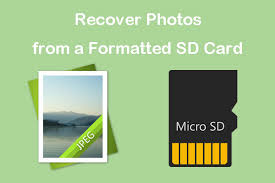 to recover photos from a formatted sd card