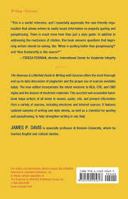 The Rowman Littlefield Guide To Writing With Sources James P