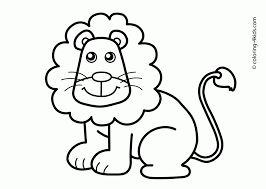 Small Picture Coloring Pages Lion Animals Coloring Pages For Kids Printable