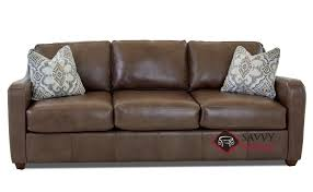 glendale leather sofa by savvy in abilene smoke