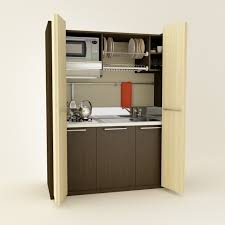 Inspirational Built In Hidden Mini Kitchen Cabinets With Bi Fold Doors As  Inspiring Apartment Kitchen Ideas