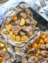 grilled er garlic steak potato