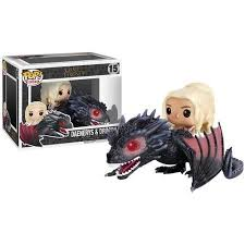 From <b>Game</b> of Thrones, Daenerys <b>riding</b> Drogon, as a stylized <b>POP</b> ...