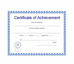 Examples Of Certificates Of Appreciation Wording Stunning 44 Great Certificate Of Achievement Templates FREE Template Archive