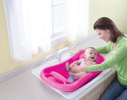 image of summer infant bath tub with shower instructions