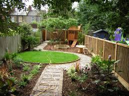 Garden Design Long Garden Long Thin Suburban Floral Hardy London Uk
